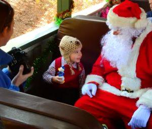 Santa riding NHV